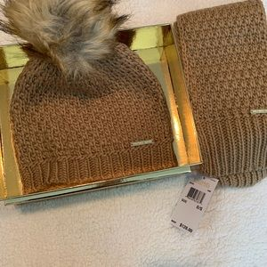 Michael Kors scarf and hat. NWT